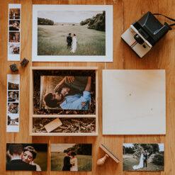 Cajas fotos y pendrive