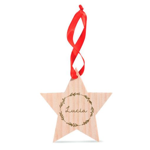 Estrellas de madera grabadas al láser